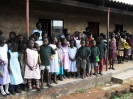 distribution of T-shirts to Nyamphande kids
